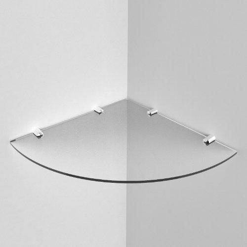 Large Acrylic Corner Shelf 300mm approx 12
