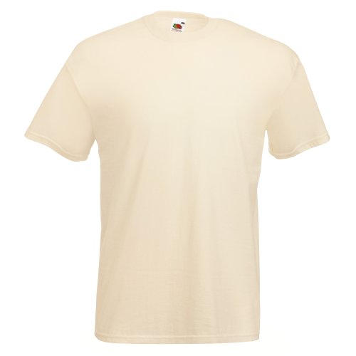 fruit-of-the-loom-maglietta-100-cotone-uomo-s-naturale