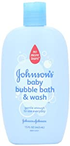 Johnson's Baby Bubble Bath and Wash, 15 Ounce (Pack of 2)