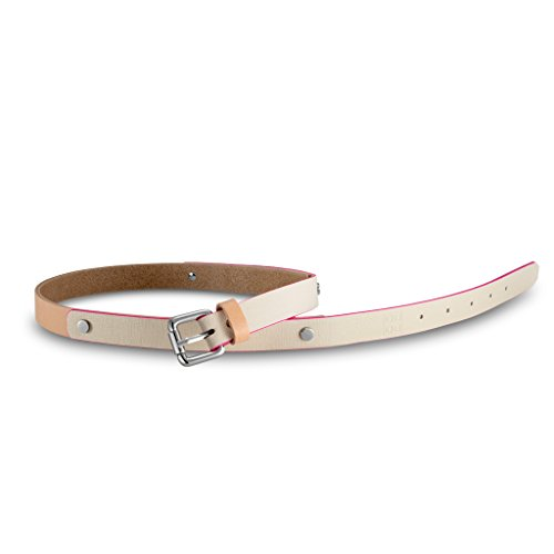 Cintura donna in pelle Saffiano Made in Italy con borchie DUDU Beige