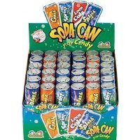 Kidsmania Soda Can Fizzy Candy 72 Can Variety Pack (Fizzy Candy Soda compare prices)