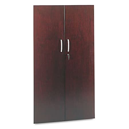 Tiffany Industries VC68WMAH 36 by 68-Inch Wall Storage Hutch Bookcase Cabinet Doors, Mahogany