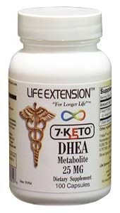 Life Extension 7 Keto DHEA 25 Mg Capsules, 100-Count