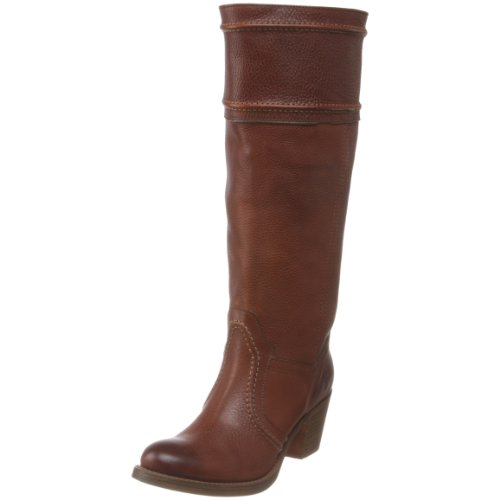 FRYE Women's Jane 14L Boot: Extended Calf,Redwood Pebbled Full Grain Extended,11 M US