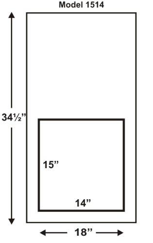 """Solo Pet Door Automatic Electronic Dog And Cat Door (15""""H By 14""""W - Door Install)"""