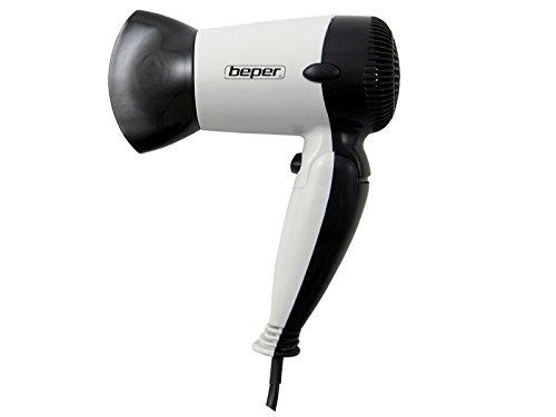Beper 40.981/BK, Asciugacapelli da viaggio, Nero