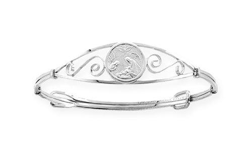 Sterling Silver Children's Adjustable Guardian Angel Bracelet