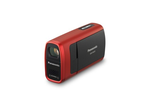 Panasonic SDR-SW20 Waterproof Flash Memory Camcorder with 10x Optical Zoom (Red)