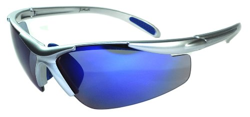 JiMarti JMP01 POLARIZED Sunglasses for Golf, Fishing, Cycling-Unbreakable-TR90 Frame (Silver & Ice B..