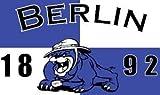 Bulldogge Berlin Fussball Fahne Flagge Grösse 1,50x0,90m - FRIP -Versand®