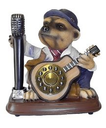 The Alexander Meerkat Novelty Style Telephone (Compare on Desk Top & Table Positions) Landline Business or Home Corded Phone - Resin Finish - MICROPHONE Handset - Guitar Keypad Reviews