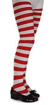 Red & White Striped Tights Costume Accessory