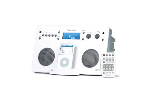 Tivoli Iyiyi High-Fidelity Am/Fm Stereo System With Alarm Clock And Ipod Dock (White/Silver)