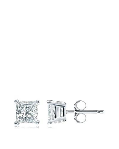Peermont Jewelry Princess-Cut 5mm CZ Stud Earrings