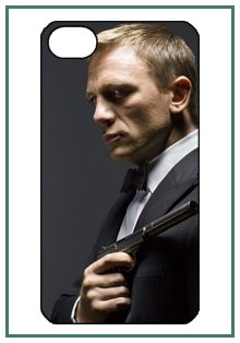 buy James Bond 007 Movie Iphone 4 Iphone4 Black Designer Hard Case Cover Protector Bumper