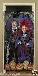 [HALLOWEEN Party Prop HAUNTED MANSION House PHOTO Photograph Door Banner] (Jigsaw Costume Face Paint)