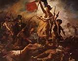 ポスター A4 ウジェーヌ・ドラクロワの民衆を率いる自由の女神 光沢プリント