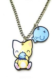 Kawaii Kitty & Fish Necklace