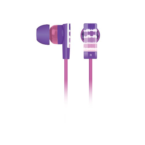 Merkury Innovations Tie Dye Earbuds - Purple (Mi-Ebm188)