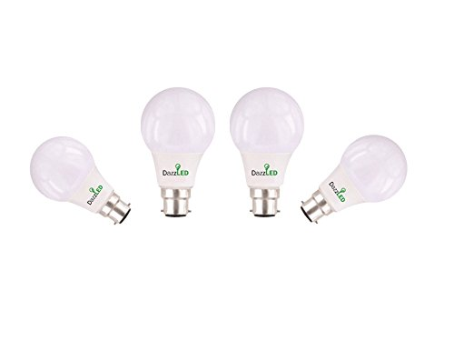 5W B22 LED Bulb (Cool Day Light, Pack of 4)