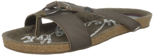 Wrangler Women's Frisco Flip Leather Dark Brown