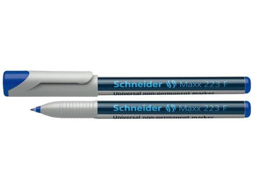 Schneider 223 Feutre pour rétroprojecteur Effaçable/F/0,7 mm Bleu Lot de 10 (Import Allemagne)