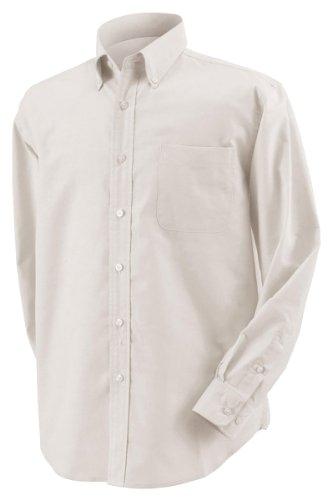 Harvard Square Men'S Five-Star Performance Long Sleeve Oxford Button Down Dress Shirt Hs600 Beige 4X Big