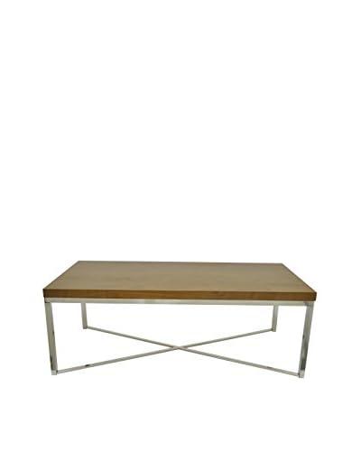 Three Hands Wood & Metal Table, Brown