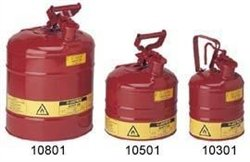 Justrite 7150110 Type-i Safety Gas Can 5 Gallon, Red vacuum 5 gallon bucket
