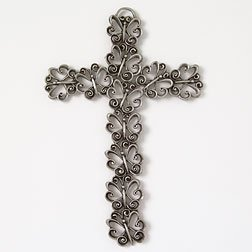 Pewter Butterfly Wall Cross 5.25
