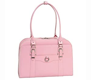 "McKlein Hillside Leather 15.4"" Laptop Tote - Pink"