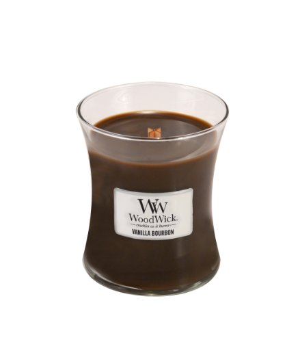 Woodwick Candle Vanilla Bourbon Medium Jar