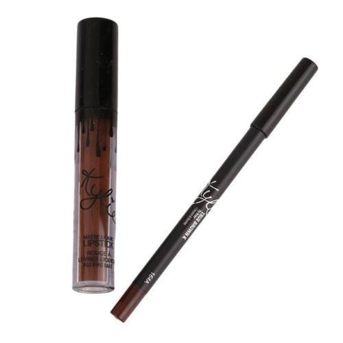 XINW Lip Gloss Rouge à Lèvres Mat Velours Imperméable à l'eau Super Longue ne Durée pas Fade