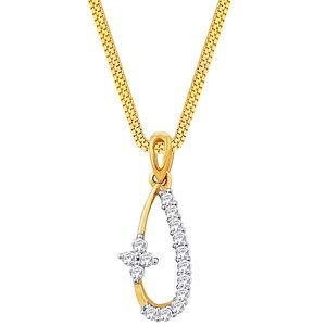 Diya Diamond Pendant YDP00039 | Color Yellow