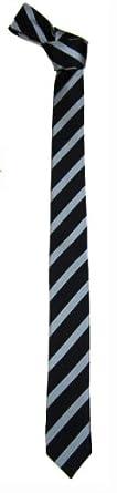 SK-U-312 - Black - Gray - Mens 2 inch Skinny Tie