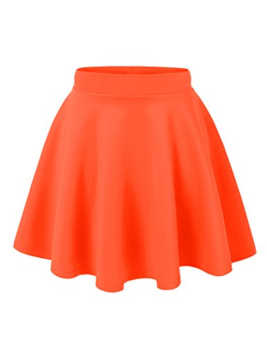 Women's Basic Solid Swing Mini Skater Skirt- many colors.