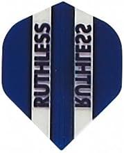 5 Sets of 3 Dart Flights - 1713 - Ruthless Dark Blue Clear Panels Double Thick Standard Flights