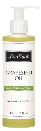 Bon Vital Grapeseed Oil, 8 oz. Bottle with Pump