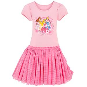 Cotton Knit Drop Waist Disney Princess Dress for Girls