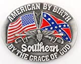 American By Birth Southern By Grace Of God Rebel Pride Belt Buckle WT-081