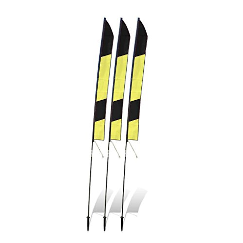 Premier RC 6 Ft Slalom Gate for Drone Racing (set of 3) - Yellow and Black (6 Feet Gates compare prices)