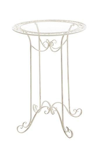 CLP-Eisen-Stehtisch-THALIA-rund-Durchmesser--70-cm-Hhe-100-cm-bis-zu-6-Farben-whlbar-nostalgisches-Design-handgefertigt-antik-creme