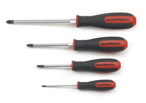 gearwrench 80061 4 piece pozi drive dual material screwdriver set 0947168895. Black Bedroom Furniture Sets. Home Design Ideas