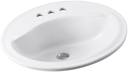 Sterling 442004-0 Sanibel 20-Inch by 17-Inch by 8-Inch Oval Lavatory Sink, White