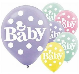 20 Latex Balloons ~ Rubber Ducky Baby Shower