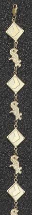 Chicago White Sox Sox and Diamond 7 1 2 Bracelet -14KT Gold Jewelry by Logo Art