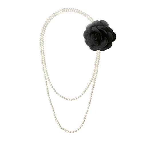 Babeyond-ART-DECO-Faux-Pearls-Flapper-Beads-Cluster-Long-Pearl-Necklace-Flower-7874