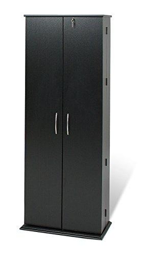 Black Grande Locking Media Storage Cabinet