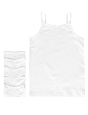 5 Pack Cotton Rich Scoop Neck Plain Cami Vests