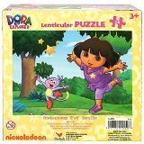 Dora the Explorer Lenticular Puzzle [24 PCS - Dora and Boots - Jumping]